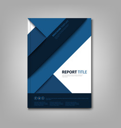 brochures book or flyer with blue abstract vector image