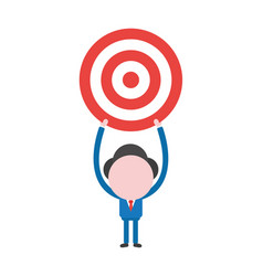 businessman character holding up bulls eye vector image
