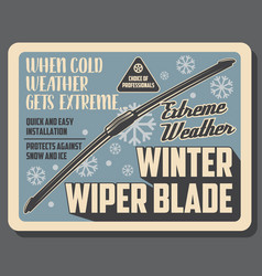 Car auto parts accessories winter wiper blades vector