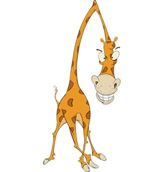 Cheerful giraffe vector