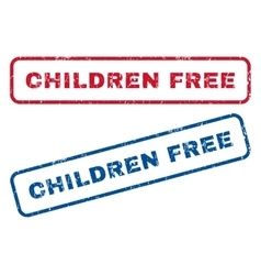 Children Free Rubber Stamps vector