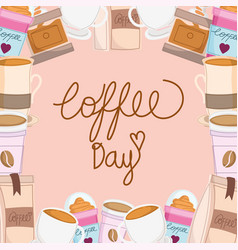Coffee day banner vector