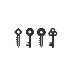 collection of keys logo icon graphic design vector image