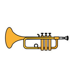 Color music trumpet instrument artistic melody vector