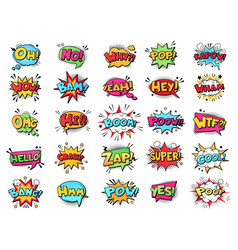 comic speech bubble cartoon comic book text vector image