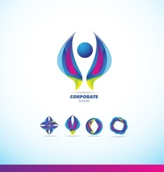 Corporate business abstract logo icon vector