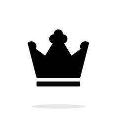 Crown King icon on white background vector image