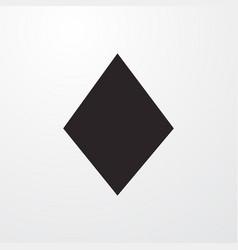 Diamonds card icon vector