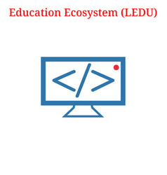 Education ecosystem ledu logo vector