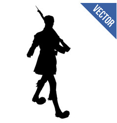 evzone of the presidential guard silhouette vector image