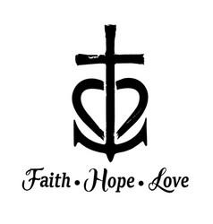 faith hope love vector image