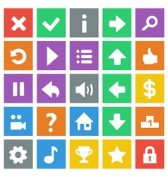Flat game icons vector image