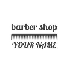 Grey emblem for barber shop vector