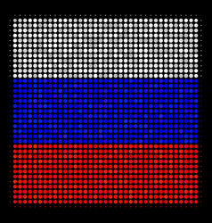 halftone russian filled square icon vector image