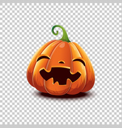 Halloween pumpkin in cartoon style smiling vector
