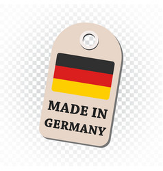 Hang tag made in germany with flag on isolated vector