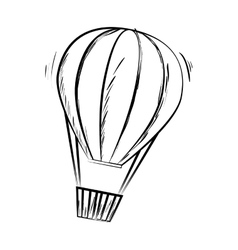 hot balloon basket sketch icon vector image