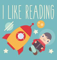 i like reading vector image