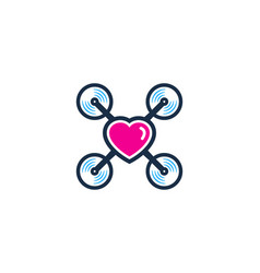 love drone logo icon design vector image