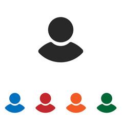 male user icon vector image