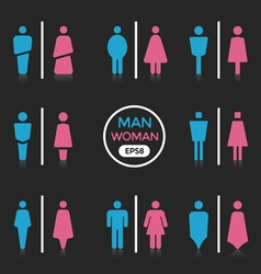 Man and Woman sign vector
