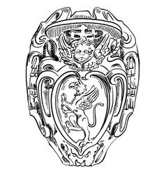 Old historical heraldic design building in roma vector