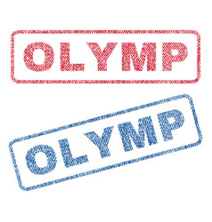 Olymp textile stamps vector