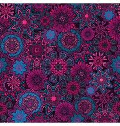 Ornamental fantasy floral seamless pattern vector