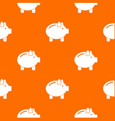 piggy bank pattern seamless vector image