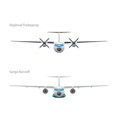 Regional turboprop and cargo aircraft vector image