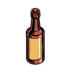 Retro bottle medicine or drink vector