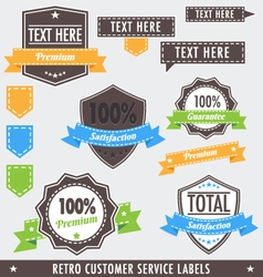 RetroCustomerLabels vector image