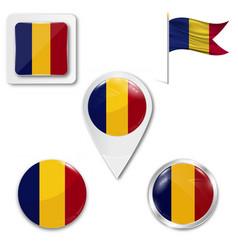 Romania flag symbol vector