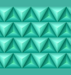 Seamless green ethno pattern with 3d geometric vector