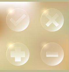 Set of glassy icon set of glassy icon vector