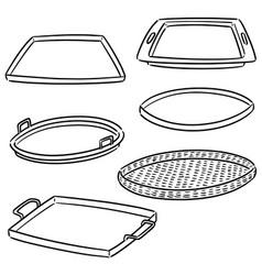 Set tray vector