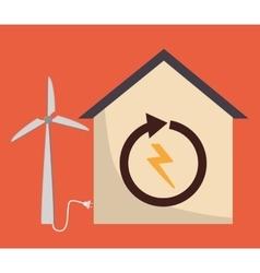 Smart House design Technology icon vector
