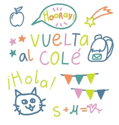 Spanish text Back to School vector image