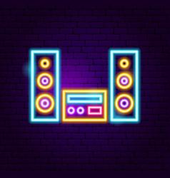 Speakers neon sign vector