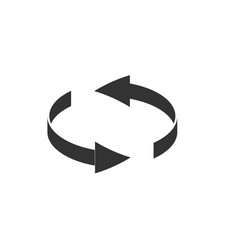 Spin rotate arrow icon reload round symbol vector