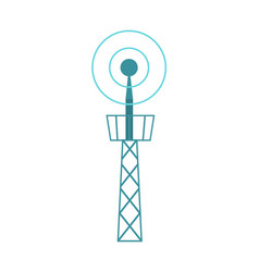Television tower isolated icon vector