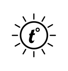 temperature icon good sunny weather symbol vector image