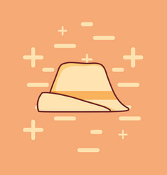 Traditional german hat icon vector