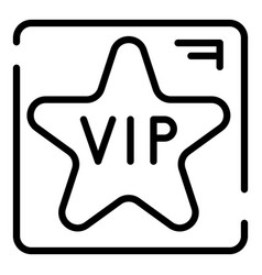 Vip star icon outline style vector