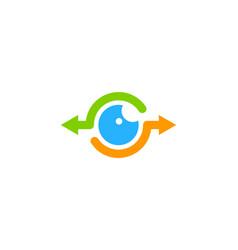 vision share logo icon design vector image