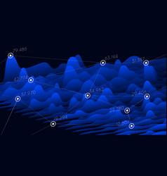 visual information financial statistics big data vector image