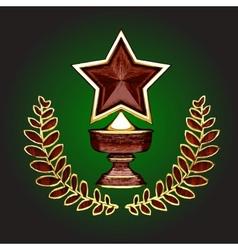 wooden award vector image