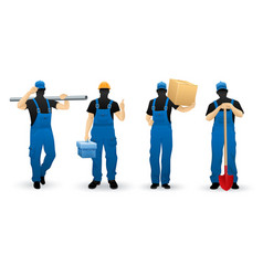 worker people set of man vector image