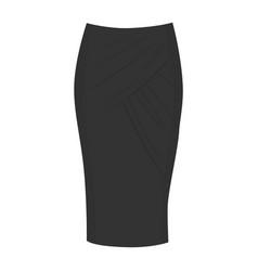wrap skirt model vector image