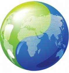 Yin yang globe vector